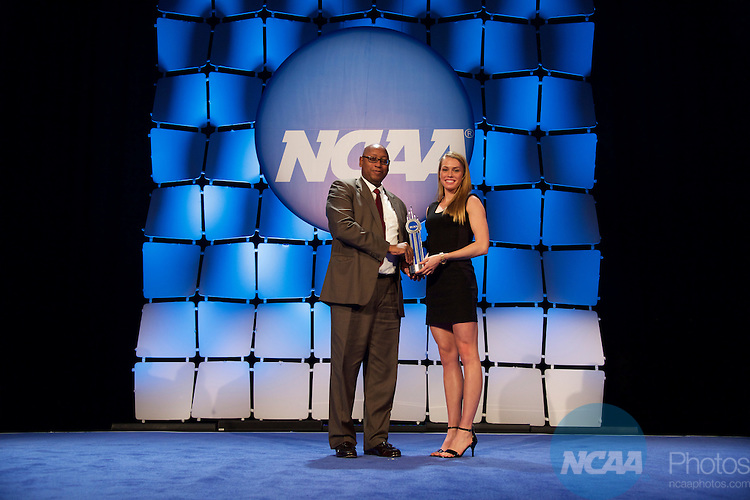 15 JAN 2016:  The NCAA Honor's Celebration takes place during the 2016 NCAA Convention at the Grand Hyatt San Antonio in San Antonio, TX.   Jamie Schwaberow/NCAA Photos  (Pictured:  Colleen Quigley)