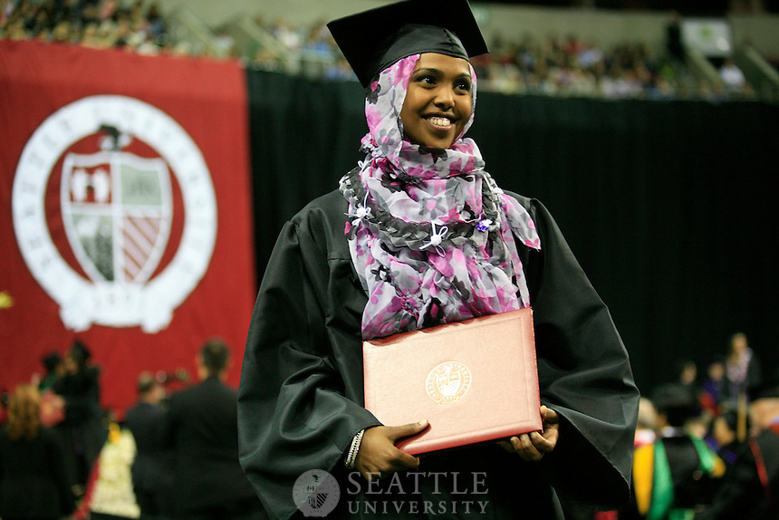 06102012-  2012 Undergraduate Commencement ceremony at Key Arena