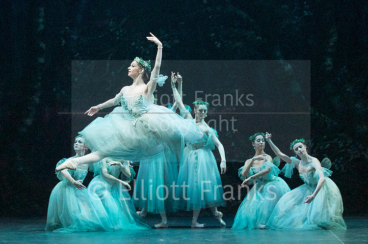 Giselle <br /> English National Ballet at The London Coliseum, London, Great Britain <br /> rehearsal <br /> 10th January 2017 <br /> <br /> <br /> Laureata Summerscales as Myrtha Queen of the Wilis <br /> <br /> <br /> Photograph by Elliott Franks <br /> Image licensed to Elliott Franks Photography Services
