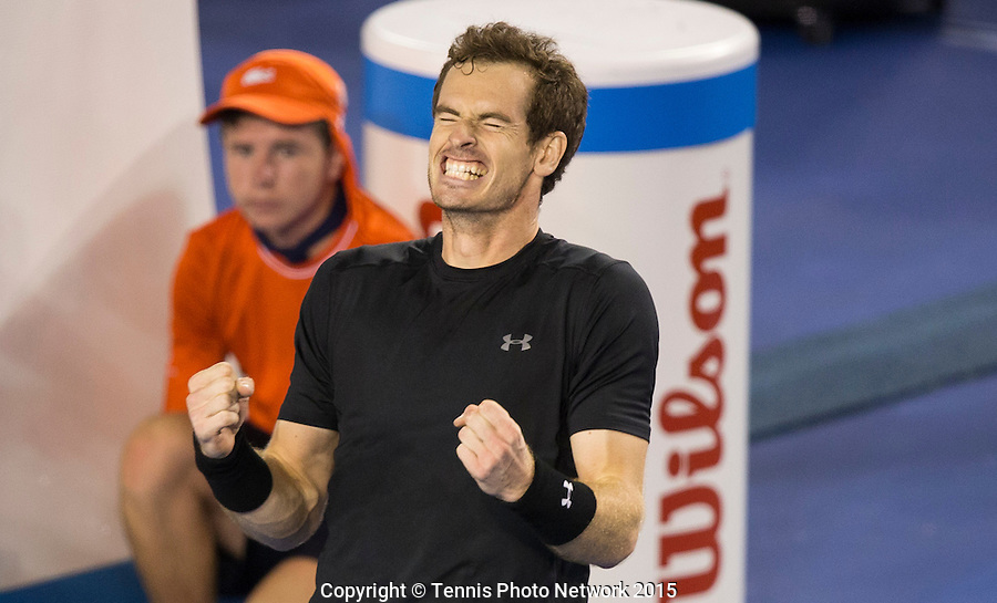 ANDY MURRAY (GBR)<br /> <br /> Tennis - Australian Open 2015 - Grand Slam -  Melbourne Park - Melbourne - Victoria - Australia  - 29 January 2015. <br /> &copy; AMN IMAGES