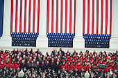 The Brooklyn Tabernacle Choir sings before President Barack Obama is sworn-in for a second term as the President of the United States by Supreme Court Chief Justice John Roberts during his public inauguration ceremony at the U.S. Capitol Building in Washington, D.C. on January 21, 2013.         .Credit: Pat Benic / Pool via CNP