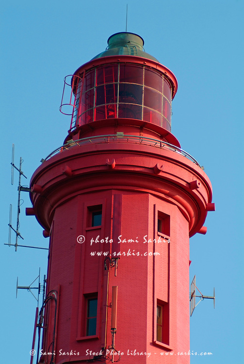 Red lighthouse at Cap Ferret, Arcachon, France.