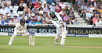 South Africa's Quinton de Kock hits a six of the bowling of England's Liam Dawson<br /> <br /> Photographer Stephen White/CameraSport<br /> <br /> Investec Test Series 2017 - Second Test - England v South Africa - Day 1 - Friday 14th July 2017 - Trent Bridge - Nottingham<br /> <br /> World Copyright &copy; 2017 CameraSport. All rights reserved. 43 Linden Ave. Countesthorpe. Leicester. England. LE8 5PG - Tel: +44 (0) 116 277 4147 - admin@camerasport.com - www.camerasport.com