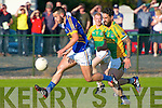 Beautifully controlled ball by Glenflesk's Jeff O'Donoghue while Finuge Paul Galvin trying to challenge.