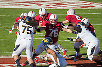 Stanford, California, 11-23-2013- Stanford's Kevin Danser during the 116th Big Game at Stanford Stadium on Saturday in Stanford, CA.