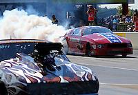 Sep 13, 2013; Charlotte, NC, USA; NHRA pro mod driver Steve Matusek during qualifying for the Carolina Nationals at zMax Dragway. Mandatory Credit: Mark J. Rebilas-