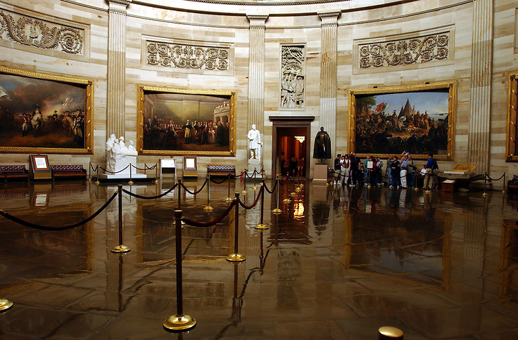 1tourgroups091801 -- Tourist are still touring the Capitol but in smaller numbers in the wake of last weeks terrorist attacks.