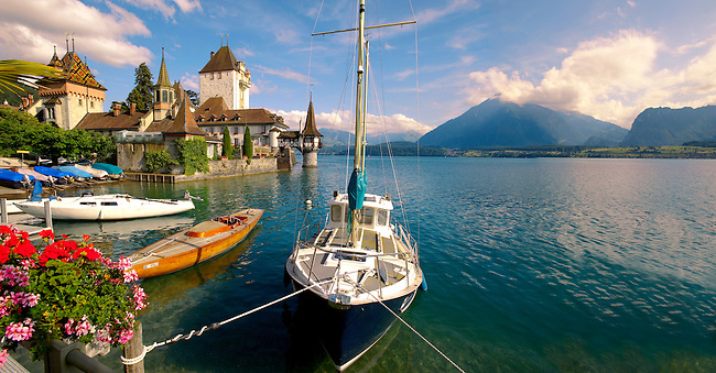 Oberhoffen Castle Lake Thun Bernese Oberland Switzerland