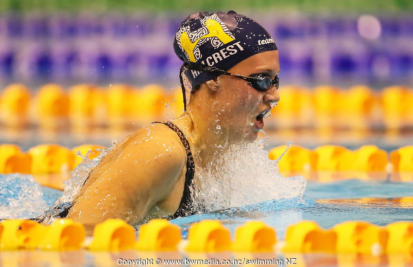 Gina McCarthy. Swimming New Zealand Aon National Age Group Championships, Wellington Regional Aquatic Centre, Wellington, New Zealand, Friday 19 April 2019. Photo: Simon Watts/www.bwmedia.co.nz