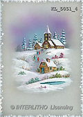 Interlitho, CHRISTMAS SANTA, SNOWMAN, nostalgic, paintings, church, people(KL5051/4,#X#) Weihnachten, nostalgisch, Navidad, nostálgico, illustrations, pinturas