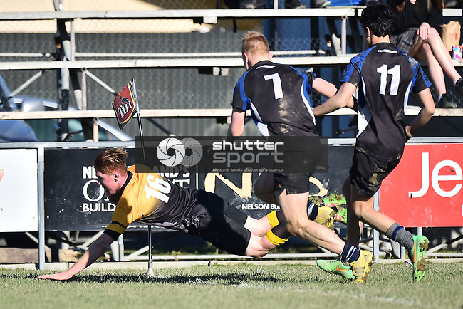 NELSON, NEW ZEALAND - JUNE 26: Motueka High School v Buller High School on June 26, 2017 in Motueka, New Zealand. (Photo by: Chris Symes/Shuttersport Limited)