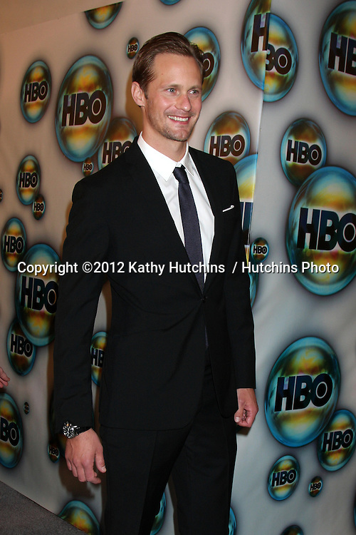 LOS ANGELES - JAN 15:  Alexander Skarsgard. arrives at  the HBO Golden Globe Party 2012 at Beverly Hilton Hotel on January 15, 2012 in Beverly Hills, CA