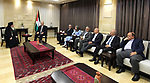 Palestinian Prime Minister, Rami Hamdallah meets with a delegation from the Roman Orthodox Patriarch, in the West Bank city of Ramallah, on October 17, 2017. Photo by Prime Minister Office