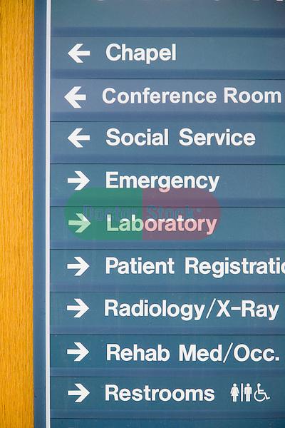 Directional Signage On Hospital