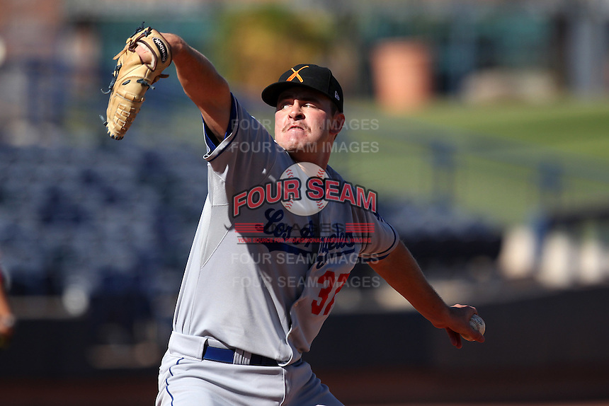 Salt River Rafters pitcher Cole St. Clair #37 during an Arizona Fall League game against the Peoria Javelinas at Peoria Sports Complex on November 2, 2011 in Peoria, Arizona.  Peoria defeated Salt River 4-2.  (Mike Janes/Four Seam Images)
