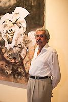 """Maestro Gustavo Arias Murueta duranse su exposicion """"Gustavo Arias Murueta, una trayectoria de 50 años"""", en el museo MACAY de Merida Yucatan el 19 de Julio del 2013.<br /> Foto: Mauricio Palos /NortePhoto"""
