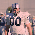 Oakland Raiders Jim Otto (00) sideline portrait from his 1967 season during a game against the San Diego Chargers on December 3, 1967 at San Diego Stadium. The Oakland Raiders beat the San Diego Chargers 41-21. Jim Otto  played for 15 season , all with the Oakland Raiders. He was a 12-time Pro Bowler and  and was inducted into the Pro Football Hall of Fame in 1980.(SportPics)