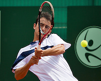 10-07-13, Netherlands, Scheveningen,  Mets, Tennis, Sport1 Open, day three, Lorenzo Giustino (ITA)<br /> <br /> <br /> Photo: Henk Koster