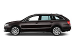 Car Driver side profile view of a 2015 Skoda SUPERB Elegance 5 Door Wagon 2WD Side View