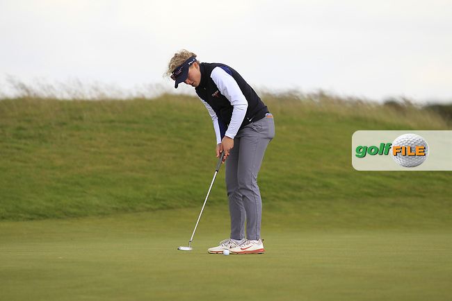 Sara Kouskova (CZE) on the 7th green during Round 3 Matchplay of the Women's Amateur Championship at Royal County Down Golf Club in Newcastle Co. Down on Friday 14th June 2019.<br /> Picture:  Thos Caffrey / www.golffile.ie