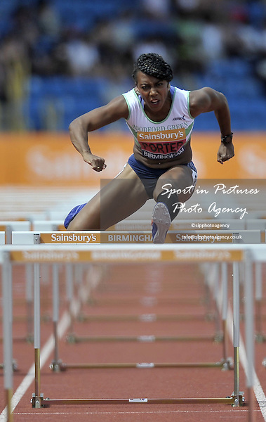 Tiffany Porter in the womens 100m hurdles. British Athletics Championships. Alexander Stadium, Perry Barr, Birmingham, England. UK. 04/07/2015. MANDATORY Credit Garry Bowden/SIPPA - NO UNAUTHORISED USE - 07837 394578