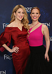 Caissie Levy and Patti Murin attends the Broadway Opening Night After Party for 'Frozen' at Terminal 5 on March 22, 2018 in New York City.