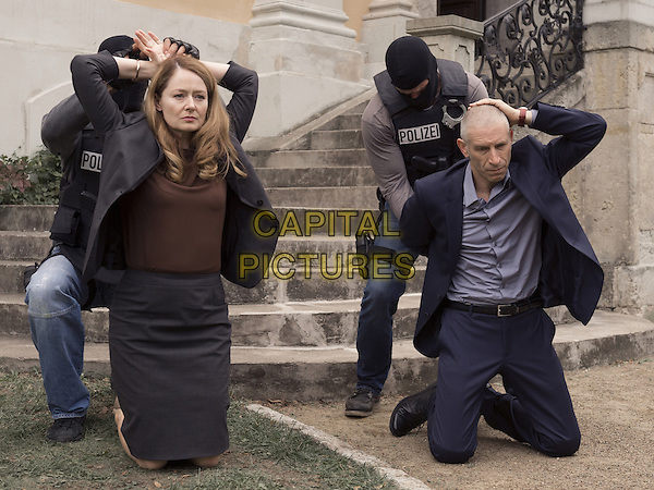 Homeland (2011-)<br /> (Season 5)<br /> Miranda Otto as Allison Carr and Mark Ivanir as Ivan<br /> *Filmstill - Editorial Use Only*<br /> CAP/FB<br /> Image supplied by Capital Pictures