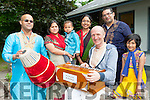 The Killarney Hindu group who celebrated their Kirtan Chant in Killarney Cultural Centre on Saturday l-r: Nirmol Ehdas, Shule Roy, Nibriat Ehdas, Saoly Chowdhury, Manu Dasa, Sandeep Chowdhury and Srijani Chowdhury