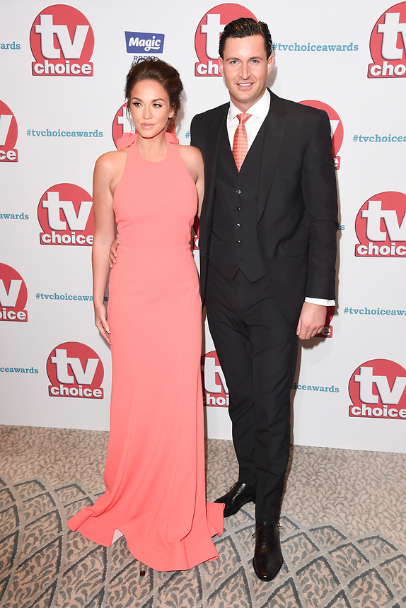 Vicky Pattisonand John Noble<br /> arriving for the TV Choice Awards 2017 at The Dorchester Hotel, London. <br /> <br /> <br /> ©Ash Knotek  D3303  04/09/2017