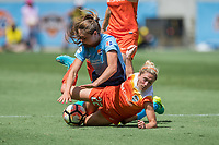 Houston, TX - Saturday May 13, Sky Blue FC defender Erica Skroski (8), Houston Dash defender Camille Levin (22) during a regular season National Women's Soccer League (NWSL) match between the Houston Dash and Sky Blue FC at BBVA Compass Stadium. Sky Blue won the game 3-1.