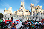 The peloton in action around Madrid during the final Stage 21 of the 2017 La Vuelta, running 117.6km from Arroyomolinos to Madrid, Spain. 10th September 2017.<br /> Picture: Unipublic/&copy;photogomezsport | Cyclefile<br /> <br /> <br /> All photos usage must carry mandatory copyright credit (&copy; Cyclefile | Unipublic/&copy;photogomezsport)
