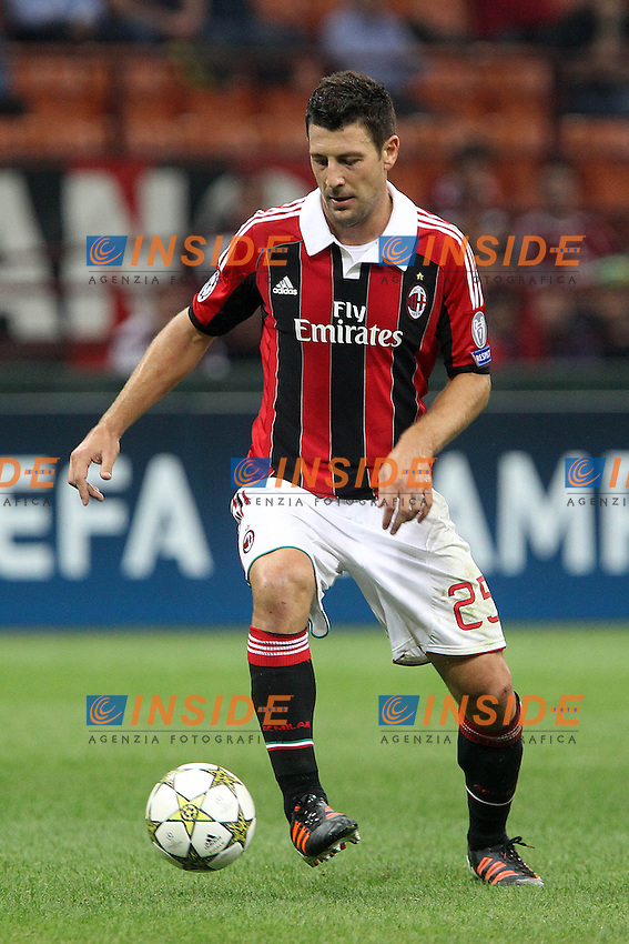 "Daniele Bonera Milan.Milano 18/09/2012 Stadio ""S.Siro"".Football Calcio Champions League 2012/13.AC Milan v Anderlecht.Foto Insidefoto Paolo Nucci."