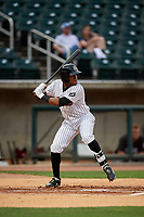 Birmingham Barons Luis Alexander Basabe (3) at bat during a Southern League game against the Chattanooga Lookouts on May 1, 2019 at Regions Field in Birmingham, Alabama.  Chattanooga defeated Birmingham 5-0.  (Mike Janes/Four Seam Images)