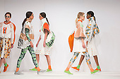 01/06/2015. London, UK. Collection by Beth Davies. Fashion show of Bath Spa University at Graduate Fashion Week 2015. Graduate Fashion Week takes place from 30 May to 2 June 2015 at the Old Truman Brewery, Brick Lane.