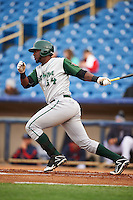 Fort Wayne TinCaps designated hitter Franmil Reyes (34) at bat during a game against the Lake County Captains on May 20, 2015 at Classic Park in Eastlake, Ohio.  Lake County defeated Fort Wayne 4-3.  (Mike Janes/Four Seam Images)