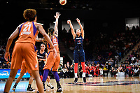 Washington, DC - July 30, 2019: Washington Mystics forward Aerial Powers (23) hits a big shot late in the 4th quarter of  game between the Phoenix Mercury and the Washington Mystics at the Entertainment & Sports Arena in Washington, DC. The Mystics defeated the Mercury 99-93. (Photo by Phil Peters/Media Images International)