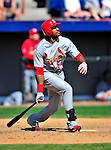 14 March 2010: St. Louis Cardinals' outfielder Daryl Jones in action during a Spring Training game against the Washington Nationals at Space Coast Stadium in Viera, Florida. The Cardinals defeated the Nationals 7-3 in Grapefruit League action. Mandatory Credit: Ed Wolfstein Photo