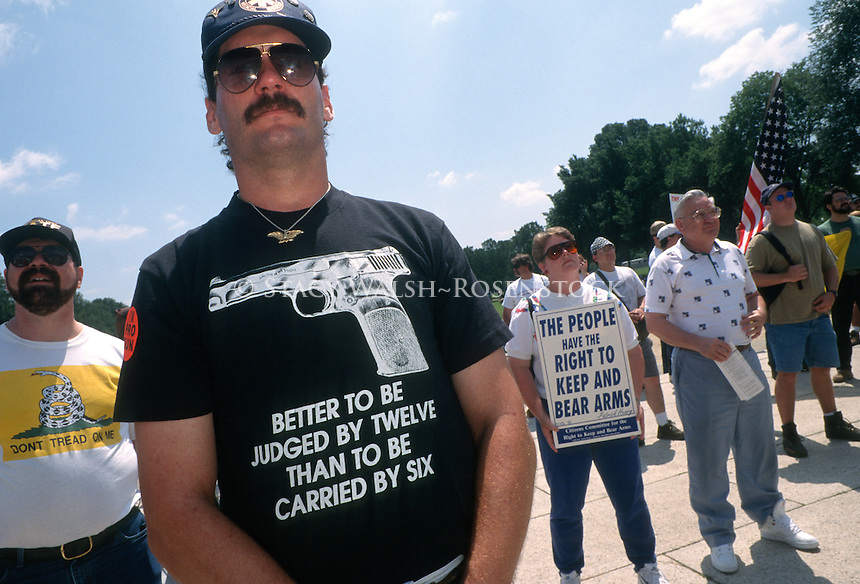 Washington, DC - Gun enthusiasts at a Second amendment rally organized by the Committee for 1776