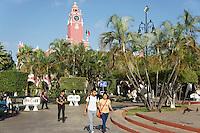 The Plaza Grande, main square in merida, Yucatan, Mexico