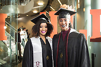 MSU Spring Graduation at Humphrey Coliseum - student graduates before ceremony.<br />  (photo by Megan Bean / &copy; Mississippi State University)