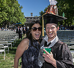 Brittany Media and Dayton Adams during the University of Nevada College of Engineering, College of Science and Orvis School of Nursing graduation ceremony on Thursday evening, May 18, 2017.