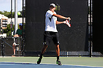 13 May 2016: Wake Forest's Jon Ho. The Wake Forest University Demon Deacons hosted the Coastal Carolina University Chanticleers at the Wake Forest Tennis Center in Winston-Salem, North Carolina in a 2015-16 NCAA Division I Men's Tennis Tournament First Round match. Wake Forest won the match 4-0.