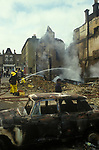 Brixton Riots. South London Uk April 1981. Burnt out destroyed building.