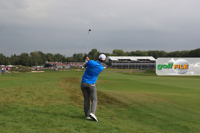 Bernd Wiesberger (AUT) on the 18th fairway during the 2016 KLM Open at the Dutch Golf Club at Spijk in The Netherlands on  Sunday 11/09/16.<br /> Picture: Thos Caffrey | Golffile