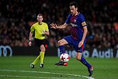 11th January 2018, Camp Nou, Barcelona, Spain; Copa del Rey football, round of 16, 2nd leg, Barcelona versus Celta Vigo; Sergio Busquets of FC Barcelona controls the ball