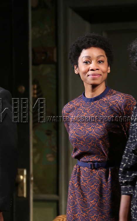 "Anika Noni Rose during the Broadway Opening Night Curtain Call for  ""A Raisin In The Sun""  at the Barrymore Theatre on April 3, 2014 in New York City."