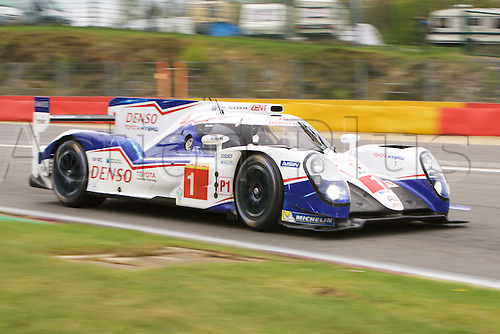 01.05.2015.  Spa-Francorchamps, Belgium. World Endurance Championship Round 2 Qualifying. Toyota Racing LMP1 Hybrid Toyota TS040 driven by Anthony Davidson and Sebastien Buemi.
