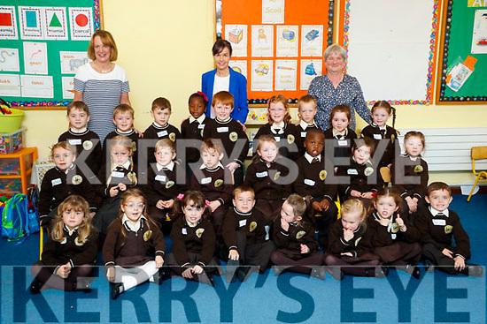 Laura N&iacute; Dhonghaile's class of Junior Infants on their first day of School at Gaelscoil Mhic Easmainn on Wednesday.<br /> front row: Cadhla N&iacute; Fhear&iacute;osa, Ana Roche N&iacute; Churn&aacute;in, Brooke N&iacute; Chonghaile, Gear&oacute;id &Oacute; Laitheasa, Amelia N&iacute; Cheallach&aacute;in, Caoimhe De R&oacute;iste, Evie N&iacute; Leathlobhair ,Jacob Malone &Oacute; Brennan<br /> Middle Row: Aoibhe N&iacute; Chonghaile, El&eacute;na N&iacute; Chr&oacute;in&iacute;n, Se&aacute;n &Oacute; Muircheartaigh, Tom&aacute;s &Oacute; Hiarlaithe-Beran, Aoife N&iacute; Ch&aacute;inte, Joshua Olanrewaju, Naomi N&iacute; Sh&uacute;illeabh&aacute;in, Lilly N&iacute; Chonchubhair<br /> Back Row: Conch&uacute;r &Oacute; St&iacute;obhard, Sam Mac Ionnrachtaigh, Dylan Mac C&aacute;rthaigh, Jewel Akinrinlade, Cathal &Oacute; Feara&iacute;l, Anna Spring, Oilibh&eacute;ir Chruszcz, Seoid&iacute;n N&iacute; Eala&iacute;, Ruby N&iacute; Mhuirth&iacute;<br /> Pr&iacute;omhoide : C&aacute;it U&iacute; Chonch&uacute;ir, M&uacute;inteoir Ranga : Laura N&iacute; Dhonhghaile, C&uacute;ntoir Riachtanais Speisialta: C&aacute;it U&iacute; Luanaigh