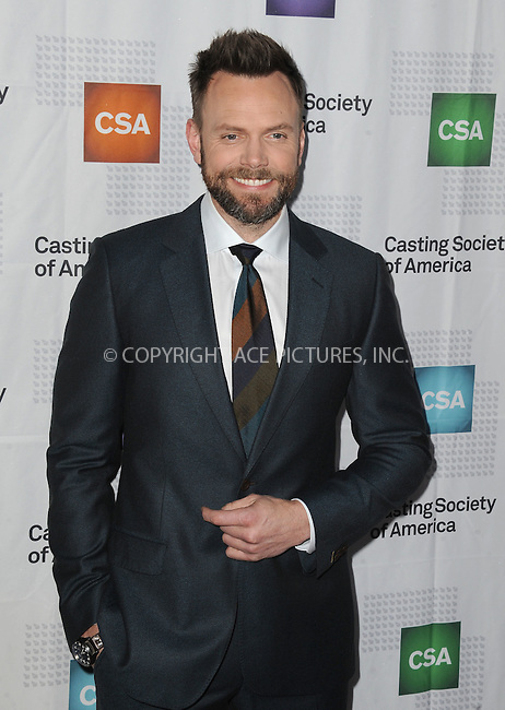 www.acepixs.com<br /> <br /> January 19 2017, LA<br /> <br /> Joel McHale arriving at the 2017 Annual Artios Awards at The Beverly Hilton Hotel on January 19, 2017 in Beverly Hills, California<br /> <br /> By Line: Peter West/ACE Pictures<br /> <br /> <br /> ACE Pictures Inc<br /> Tel: 6467670430<br /> Email: info@acepixs.com<br /> www.acepixs.com
