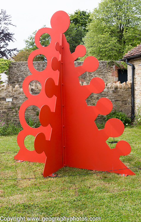 Hauser and Wirth art gallery, restaurant and garden, Durslade Farm, Bruton, Somerset, England, UK  'Gui' sculpture Alexander Calder 1976